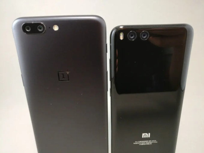 OnePlus5とXiaomi Mi6 兄弟 ズーム