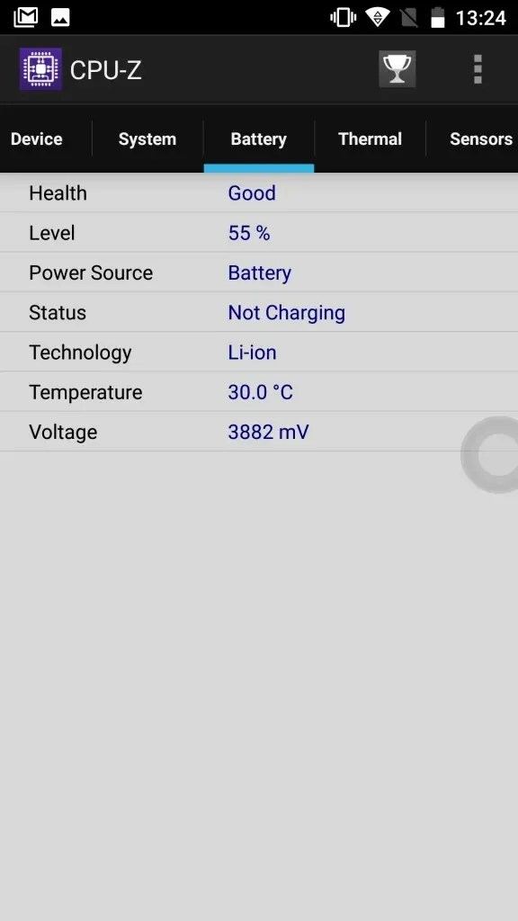 OUKITEL K6000 Plus CPU-Z4