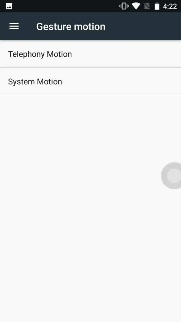 OUKITEL K6000 Plus Gesture motion
