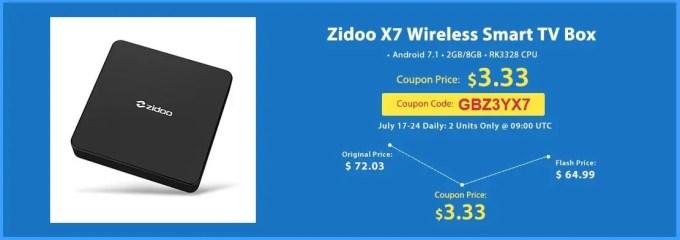 Zidoo X7 3.33ドル