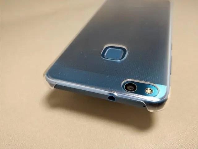Huawei P10 Lite 裏 ケース装着 斜下