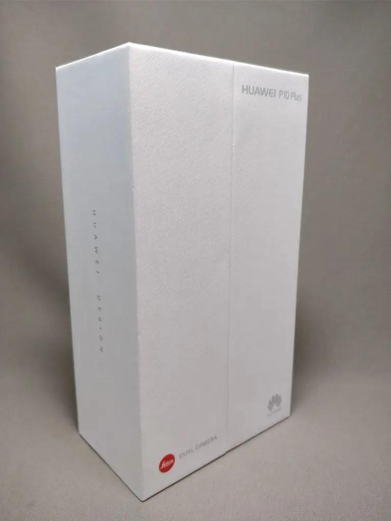 Huawei P10 Plus 化粧箱 表 斜め