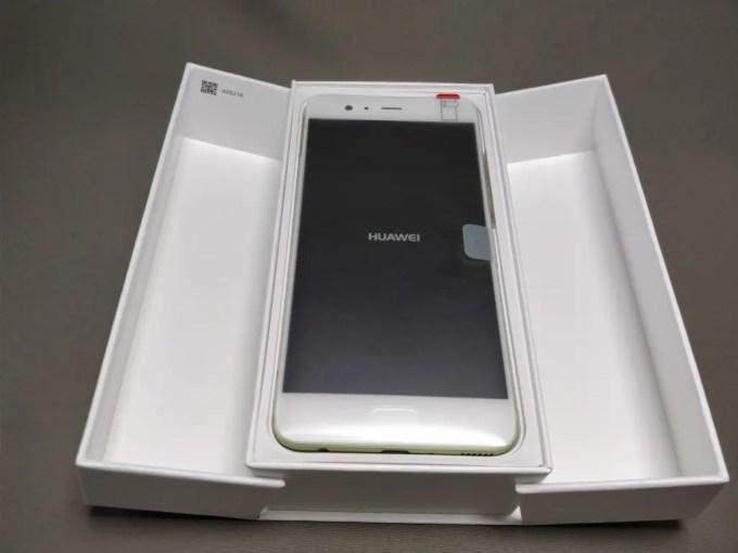 Huawei P10 Plus 化粧箱 開封