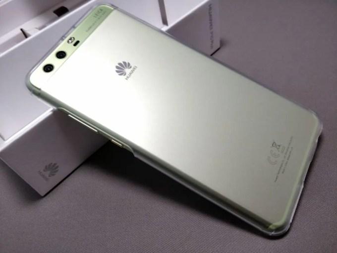 Huawei P10 Plus 保護ケース装着 斜め上