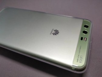 Huawei P10 Plus 保護ケース装着 カメラ部分