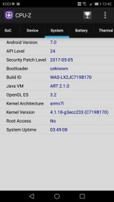 Huawei P10 Lite UQ mobile 貸出機 CPU-Z 4
