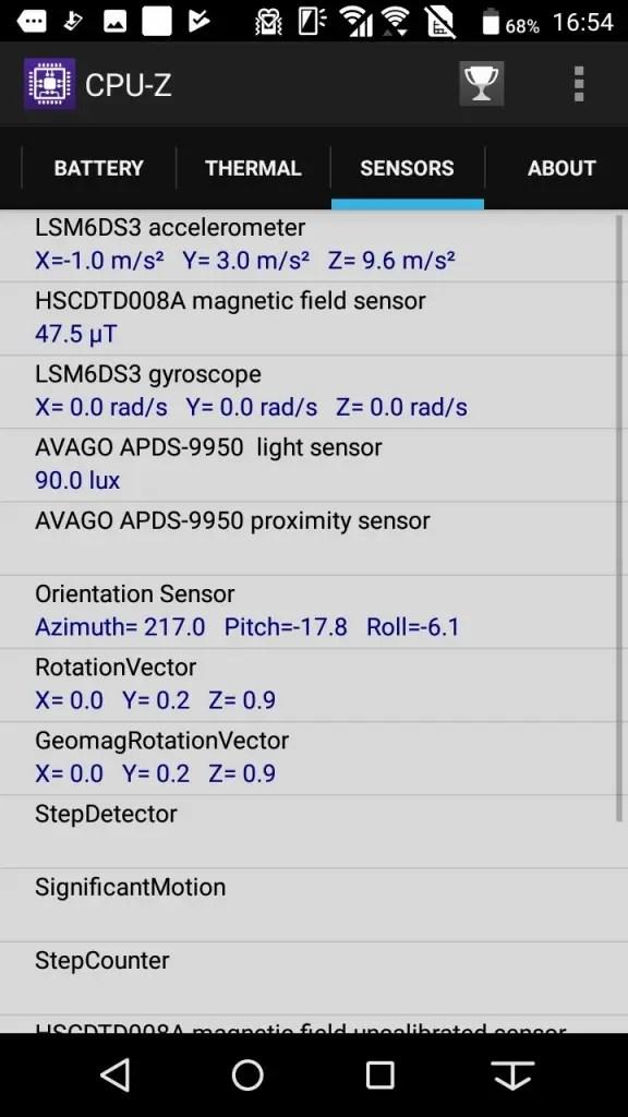 Arrows Be F-05J CPU-Z 6