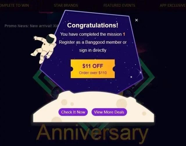 Banggood 11 Anniversary クーポン