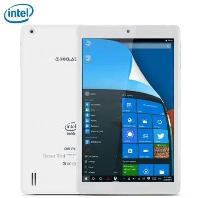Teclast X80 Pro Atom Cherry Trail x5-Z8300 1.44GHz 4コア