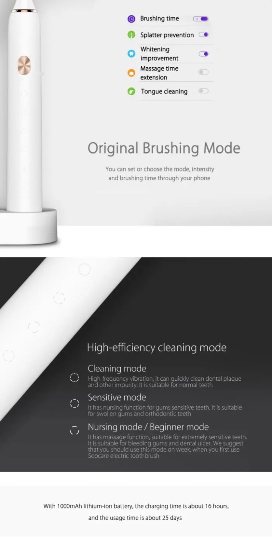 Xiaomi Soocas X3 電動歯ブラシ5