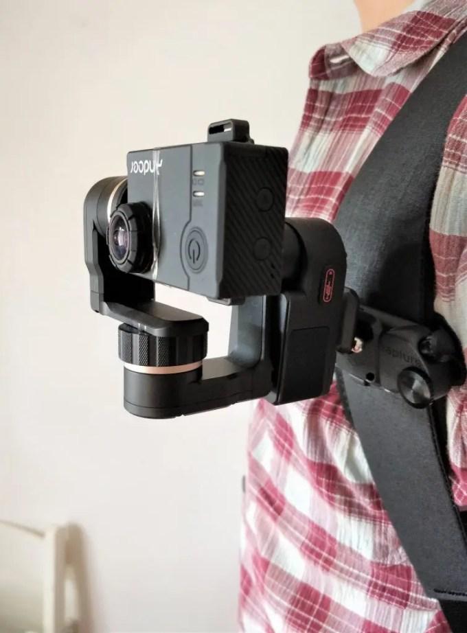 Capture POV+FeiyuTech WG2+アクションカメラ装着斜め