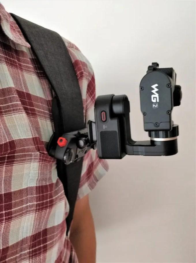 Capture POV+FeiyuTech WG2+アクションカメラ装着 横