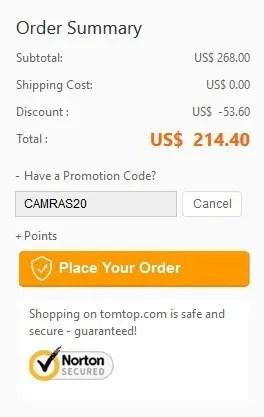 TOMTOPでハーフプライスキャンペーン Feiyu WG2 214.4ドル