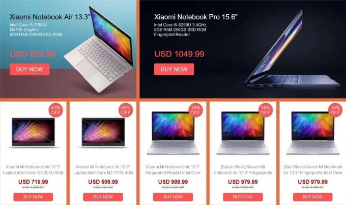 Xiaomi Notebook セール