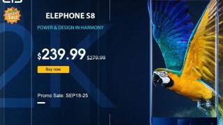 【GearBest独占販売】 Elephone S8 プロモセール239.99ドル + デイリークーポン~25日までの開始時間指定クーポン