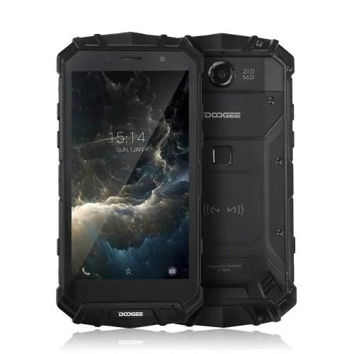 tomtop DOOGEE S60 MTK6757T Helio P25 2.5GHz 8コア BLACK(ブラック)