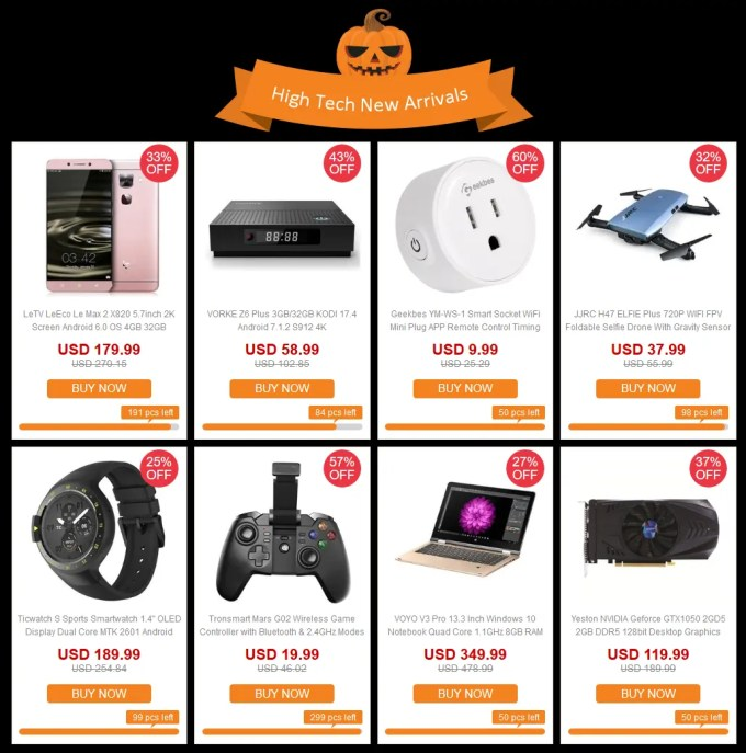 GeekBuying ハロウィン High Tech New Arrivals