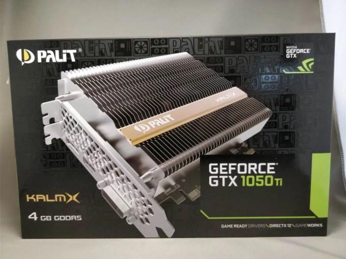 Palit GeForce GTX 1050 Ti KalmX 化粧箱