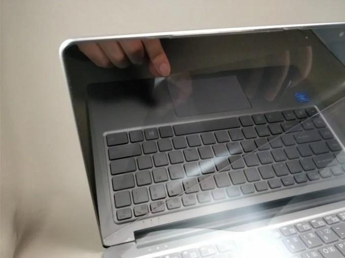 Chuwi Lapbook Air 化粧箱 本体開ける シール