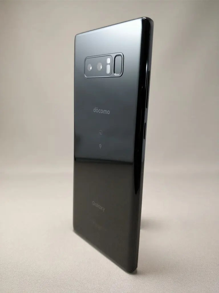 Galaxy note 8 裏 ブラック10