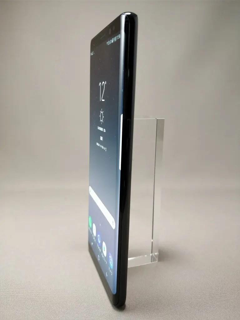 Galaxy note 8 表 ブラック 1