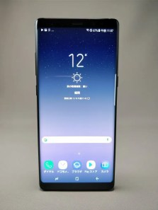 Galaxy note 8 表 ブラック 5