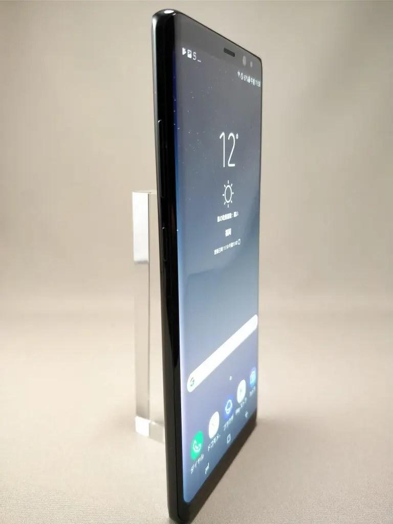 Galaxy note 8 表 ブラック 9