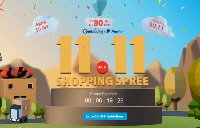 【GeekBuying】11・11 最大90%オフ!
