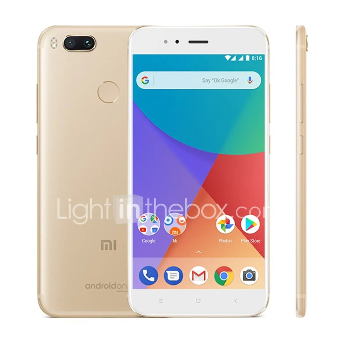 lightinthebox Xiaomi Mi A1 Snapdragon 625 MSM8953 2.0GHz 8コア GOLD(ゴールド)