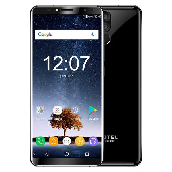 banggood Oukitel K6 MTK6763 Helio P23 2.0GHz 8コア BLACK(ブラック)