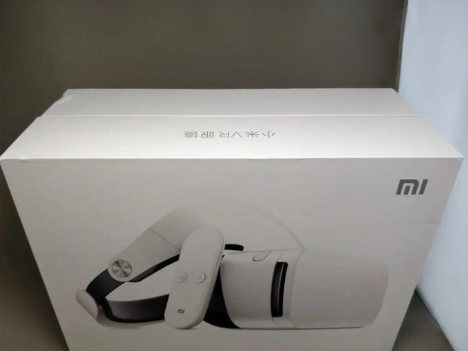 Xiaomi VR 3D Glasses  化粧箱 斜め上