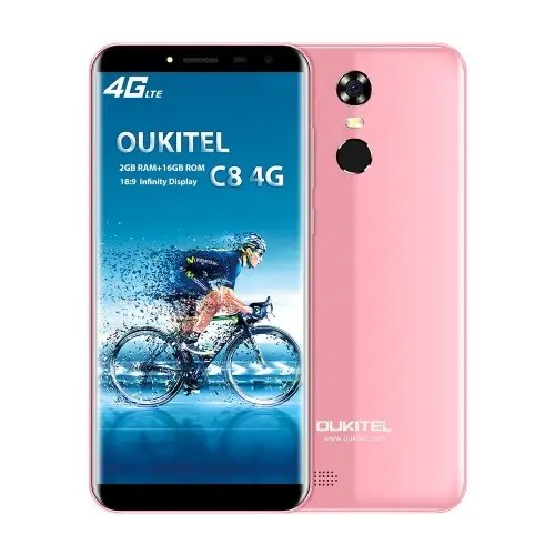 tomtop OUKITEL C8 MTK6737 1.3GHz 4コア PINK(ピンク)