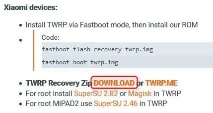 Xiaomi Mi MIX2 Xiaomi.eu TWRP
