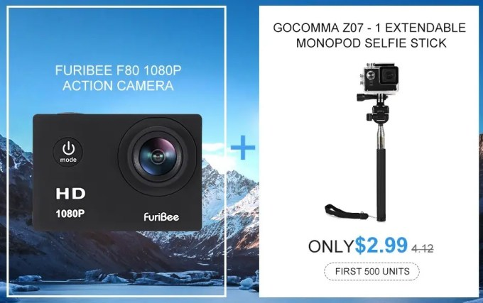 Furibee F80 1080P HD 9.99ドルクーポン2