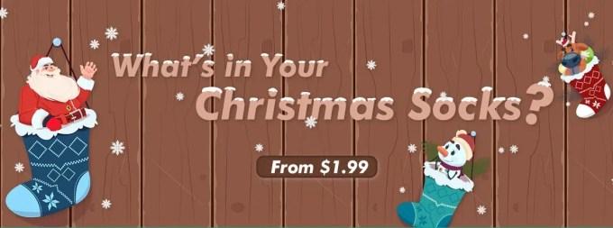 クリスマスソックス 福袋 1.99~12.12ドル