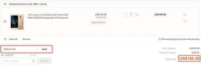 Leeco Le Pro3 Elite X722 4GB/32GB クーポン