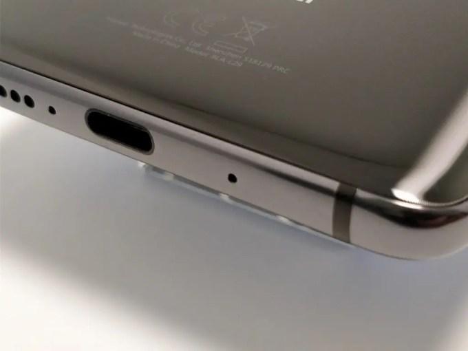 Huawei Mate 10 Pro 側面 下 USB-C