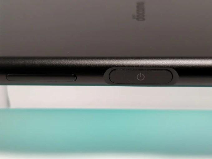 Sony Xperia XZ1 電源ボタン