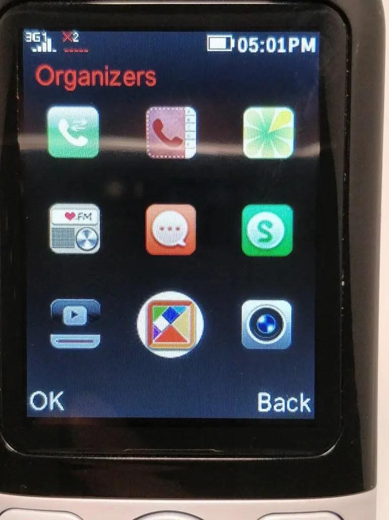 Samgle 3310 X 3G アプリ2