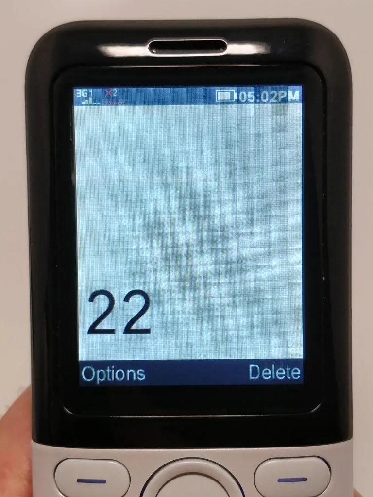 Samgle 3310 X 3G 電話かける