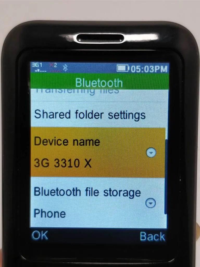 Samgle 3310 X 3G Bluetooth名