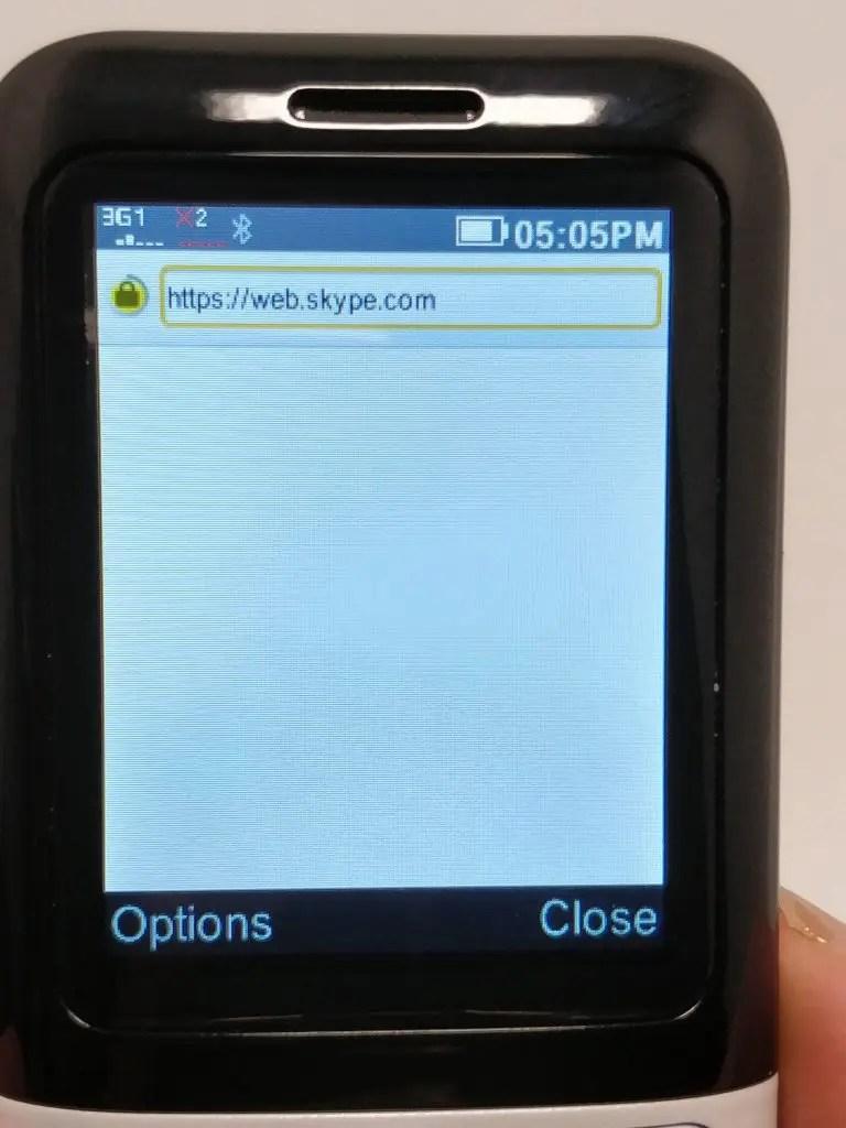 Samgle 3310 X 3G サイトにアクセス