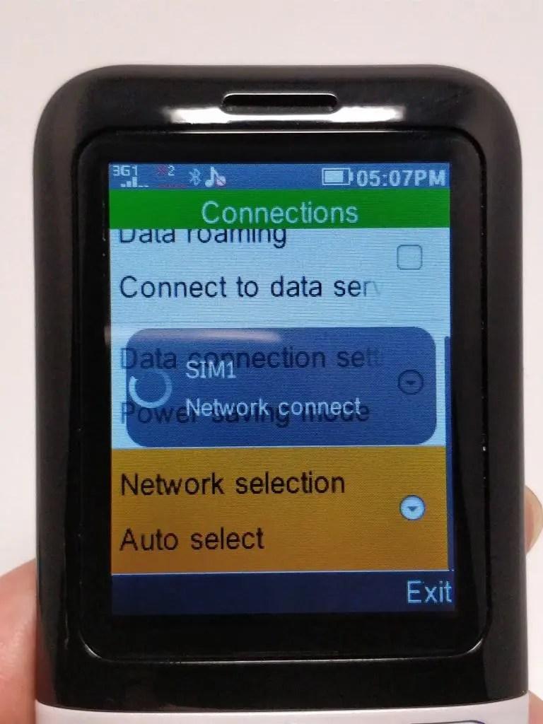 Samgle 3310 X 3G SIM設定