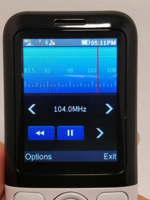 Samgle 3310 X 3G  ラジオ