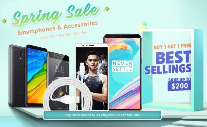 GeekBuying 2018春節 スマホ・アクセサリー セール 特設ページ