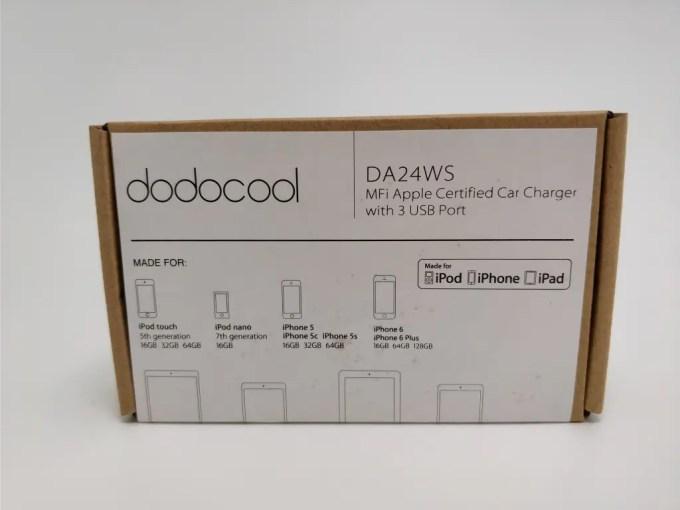 dodocool 3口 USBカーチャージャー シガーソケット 化粧箱