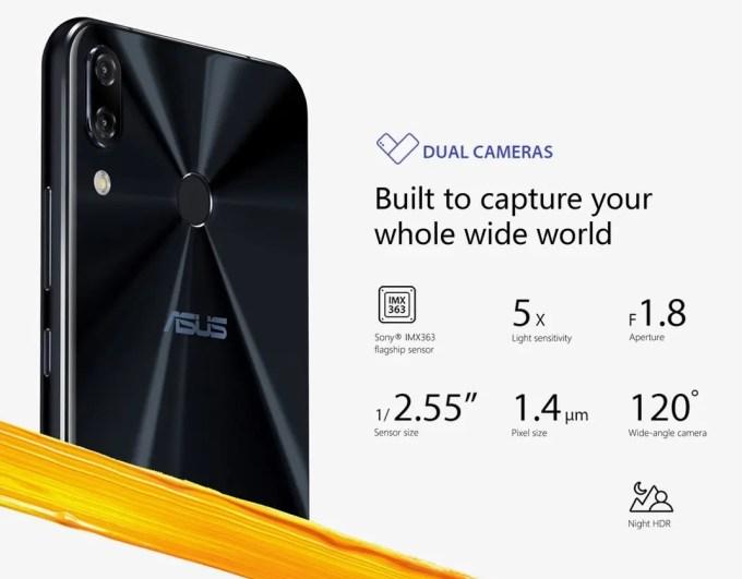 ASUS Zenfone 5 デュアルカメラ