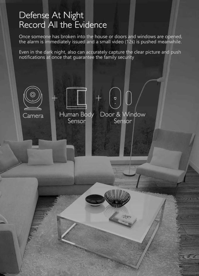 Xiaomi Mijia Aqara 180度HD IPカメラ ナイトビジョン