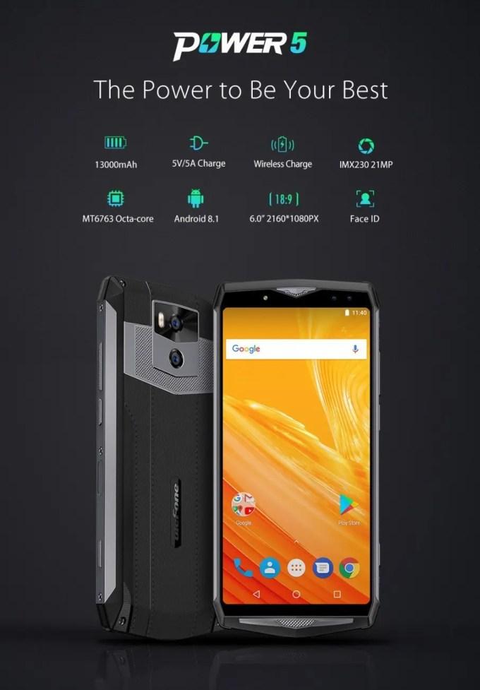 Ulefone Power 5 特徴