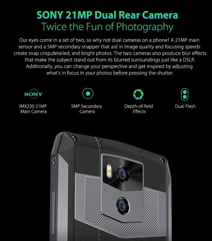 Ulefone Power 5 Camera